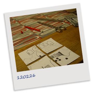 Polaroidbild över arbetsbord