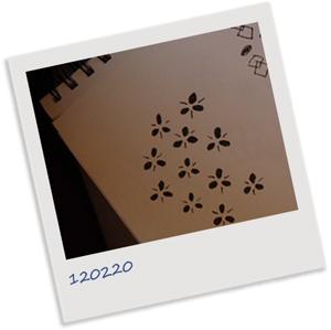 Polaroidbild på skiss