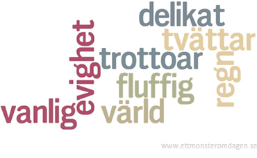 mönster wordcloud