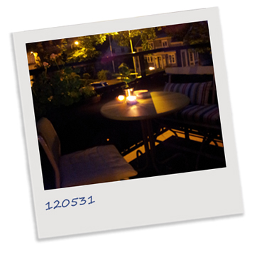 polaroidfoto balkong