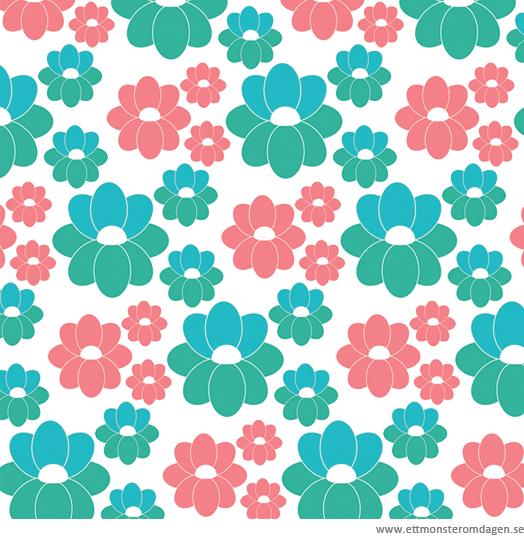 mönster blommor retro