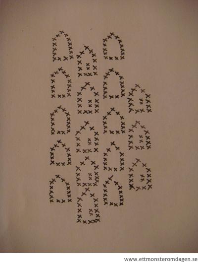 mönster korsstygn